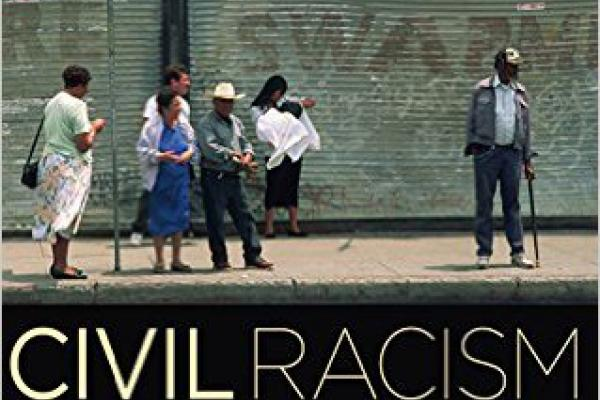 "a photo of a with the words ""Civil Racism"" above them"