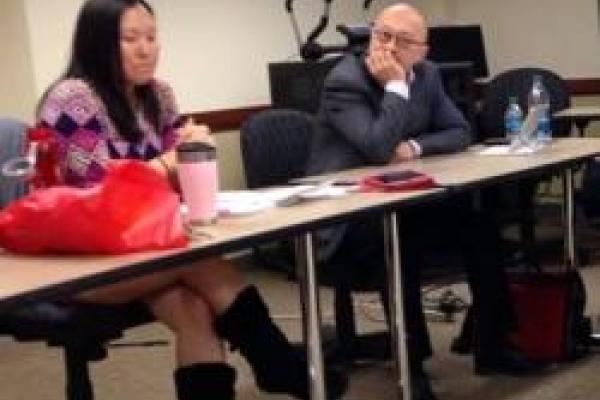 Lynn Itagaki (left) and Daniel Kim (right) at the Racial Burnout workshop